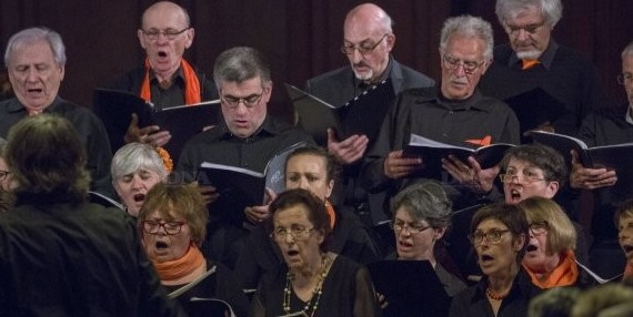 Photo de la chorale Chanteval pendant le concert